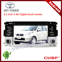 CP-T068 android car gps navigation with dvd,radio,bluetooth,TV,mp3,3G,wifi ,Rear view camera ,USB, SD for TOYOTA RUSH 2006-