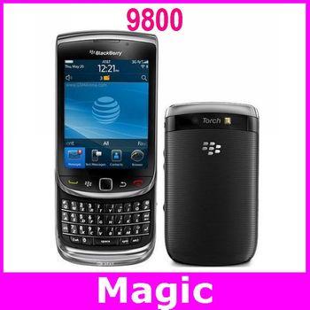 Blackberry torch 9800 Unlocked Original mobile phone GPS WIFI Bluetooth 3G network 12 months warranty free shipping