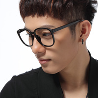 Men Women  Oversize Frame Plain Mirror Vintage Eyeglasses Frame  Plain Glass Spectacles With Box  Leopard