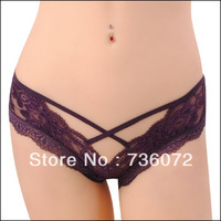 Trigonometric women's panties female thin low-waist gauze women's transparent lace sexy panties the temptation of cotton 3 1