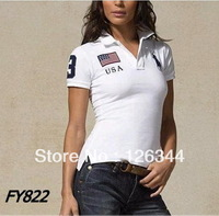 2013 Hot Sale Womens Polo Short T-shirts Brand Turn-down Collar Active Tees for Lady Casual Sports T-shirts Free Shipping