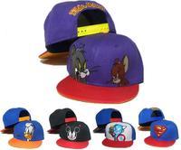 Free Shipping Kids Cartoon Snapback Caps, Donald Duck child baseball cap, childrens mickey mouse hats, Cute batman hat