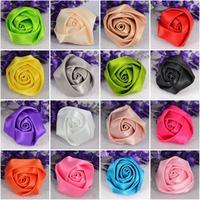 Cheap-fine 20pcs/lot 35mm*22mm Satin Ribbon Flower Appliques Hair Accessories,Wedding Decorations,DIY Accessories