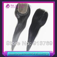 Cheap aaaaa Grade 100% Unprocessed Brazilian Virgin Human Hair 3.5*4 inch Light Yaki Lace Closure Natural Color Free Shipping