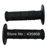 "motorcycle handlebar grips  Handle Throttle Grips soft Rubber Universal Grip 7/8"" 22mm Black DIRT PIT BIKE"