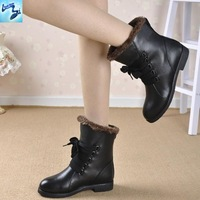 2013 new autumn and winter boots leather riding boots 100% first layer of cow leather casual flat women boots 600