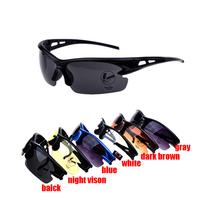 2pcs 5% off! 1pc 2014 new fashion men&women mountain bike sunglasses  cycling eyewear  6 colors free shipping!