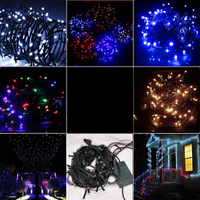 Holiay Outdoor 100 LED String Lights10M 220V EU plug Christmas Xmas Wedding Party Decorations Garland lamps