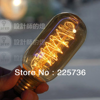 Лампа накаливания 110V/220V personalized T45 edison bulb lamp lights vintage Incandescent bulbs light reminisced edison bulb tungsten wire bulb
