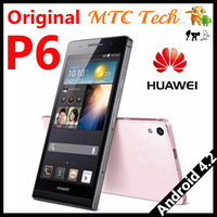 Original Huawei P6 Phone World Slimmest Phone HUAWEI Ascend P6 Android 4.2 Quad Core 1.5GHz 8GB ROM 8MP Camera P6 Phone