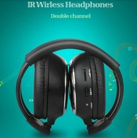 OEM foldable stereo IR wireless headphone/headset with dual channel hot selling headband