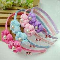 Baby girls hairbands with silk flower Children Hair band/Hair Accessories Princess Hair Ornament Kids Hairbands Hair Clasp