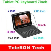 Tablet PC keyboard leather case cover for  7,7.85,8,9 ,9.7,10.1 Inch universal MICRO 2.0, Mini USB 2.0 Pipo Ainol Q88 Cube Onda