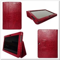 High Quality 2PCS / PACKING  Crocodile Pattern PU Leather Stand Case For Galaxy Tab 2  10.1 Inch P5100 Cover Case Free Shipping