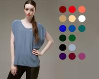 Silk Bat Shirt/100% Pure Natural Silk Fabric/Exclusive Desigual/Silk Blouse for Women/2014 New Spring & Summer/Big SizeXL&XXL