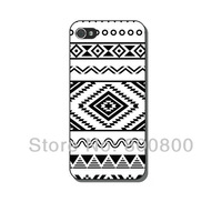Black and White Geometric Hard Case for iPhone 4/4S cover for iPhone 5  5S 5C(#083) Personalized Custom 5pcs/lot  Free Shipping