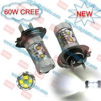 2pcs/lot  60W CREE LED HIGH POWER,LED H7 CAR LIGHT,H7 LED FOG LIGHT,LED H7 HIGH POWER