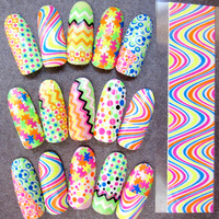 SEE DETAILS wholesale MIX note your types 20 pieces surper thin nail polish wraps patch french manucure coare 3D stickers