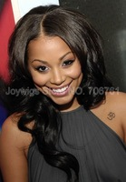 lauren london Loose wave Celebrity Glueless Full Lace Wigs/Front Lace Wig 100% Virgin brazilian Human Hair right Part  STOCK!