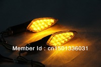 2PCS 15 LED Motorcycle Turn Signal Lights Lamps Indicators Amber Light Free Shipping