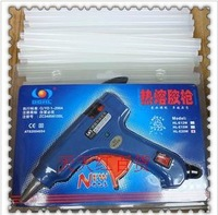 Free shipping hot melt glue gun in English EU Plug + (glue sticks 7 * 100mm/50P)