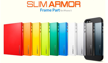 1PCS New Cool  2 in 1 Slim Armor Spigen SGP case for iPhone 5 5G hard Back Cover TPU + Plastic! Free Shippinig!