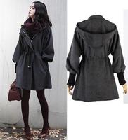2014 New hot Sale Women Thicken Fleece Warm Winter Coat  Zip Up Hooded Parka Long Jacket High Quality Overcoat Free Shipping