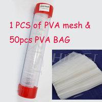 One PVA mesh 25MM 5M and 50pcs PVA BAG for carp fishing promotipm
