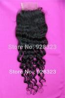 3.5x4 Deep Curly Brazilian Virgin Hair with Closure Lace Light Brown Best Hair with Closure Brazilian Kinky Curly(deep wave)