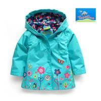 Free shipping 6 pcs/ lot 2014 spring & autumn New Arrival Hot girls beautiful flower windbreaker jacket ,baby Outerwear