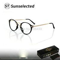 Free dropshipping New Fashion Women's Retro Round Clear Glasses Brand Designer Optical Eye glasses Frames w/ Metal Details  G154