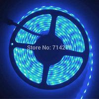 5M 12V 5A DC SMD 5050  60led/m LED strip single blue color waterproof  Flexible Light Strip bright festival LED lighting