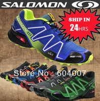 MEN Genuine SALOMON SpeedCross 3 CS cross shoes country cross men's running waterproof shoes, 22 Colors, Worldwide Free Shipping