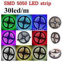 RGB/white/red/yellow/blue/green non-waterproof 150led 12V SMD 5050 LED strip Flexible Light Strip bright festival use lighting