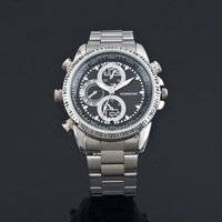 4GB   Free shipping Fashionable Wrist watch with Hidden Camera /DV waterproof with usb cable and ueser's manual