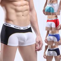 Hot!Desigual Men Underwear Shorts Sexy Boxers Breathable Underwear Patchwork Shorts Men Cuecas MU1005A