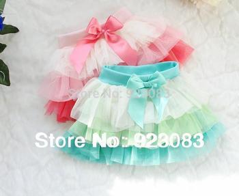 Новый 2014 saia девушки мода детские юбки 4 цвет petti радуга короткая юбка / фантазия infantil пышная юбка для девочек