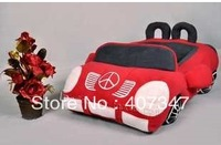 Free Shipping! !  RED  Lovely and lively Car shape pet  beds, pet cushion, pet house