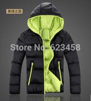 Men's Down Slim Hooded Padded Weatherization Plus Size Fashion Casual Jacket Js49