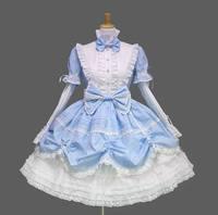 Gothic Lolita dress pink princess dress cosplay for women black blue free shipping high quality