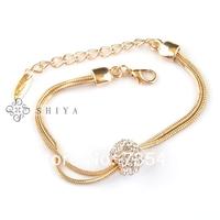 Classic Snake Bracelet with Rhinestone(1Pcs/lot) Simplicity Style Gold Charm Bracelet for Women