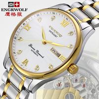 man mechanical self winding watch Luxury brand 18k gold sapphire hours self wind watches mens original mechanism watch men b