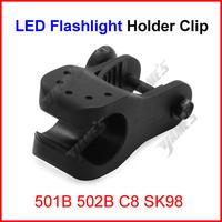 ( 200 pcs/lot ) Bicycle Bike Headlight Holder Bicycle Front Flashlight Mount Clip Bracket For 501B 502B C8 SK98 Q5 T6 Wholesale