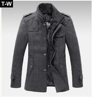 TUWB091504 2013 new designal fashional Wool & Blends winter coat men,winter coatt jacket men,trench coat men free shipping