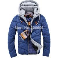 New arrival best selling casual slim men's winter jacket hooded slim autumn winter men jackets coat teenager boy jacket
