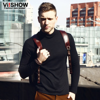viishow2013 Hitz European and American fashion men sweater knit sweater turtleneck long-sleeved knit men's slim long sleeved L