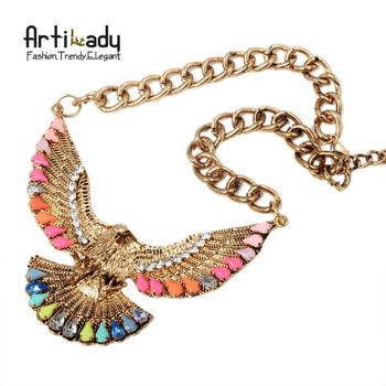 Artilady  fashion eagle necklaces pendents statement necklace jewelry 2014 unique necklaces for women two colors!