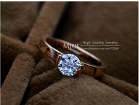 Miue brand 18K Gold Plated women fashion rings 2013 for women gold jewelry wholesale zircon ring jewellery