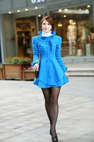 HOT!!! Fashion Women Wear Woollen Overcoat Long Section Self-Cultivation Wool Coat Long Sleeve Mianfu Coat