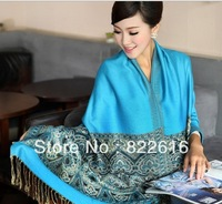 2pc/lot 200 x70cm Fashion Large Winter Autumn Plaid Ladies Trend Vintage Pashmina Cashmere Women's Thermal Lace Scarves